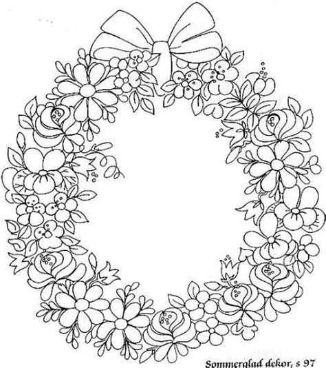 Flower Wreath Coloring Page | maleboken senia one stroke picasa albums web