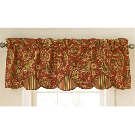 Kitchen Curtains Valances Waverly Bling 18 In Vapor Cotton Back Tab Valance Waverly Kitchen Curtains And Valances