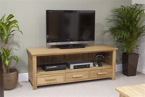 Living Room Furniture Tv Eton Solid Oak Living Room Furniture Widescreen Tv Cabinet Stand Unit Ebay