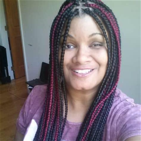 box braids with kanekalon hair nene hair braiding 11 reviews hair extensions 960