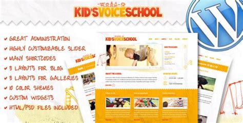 themeforest voice 10 best education wordpress themes for school and college