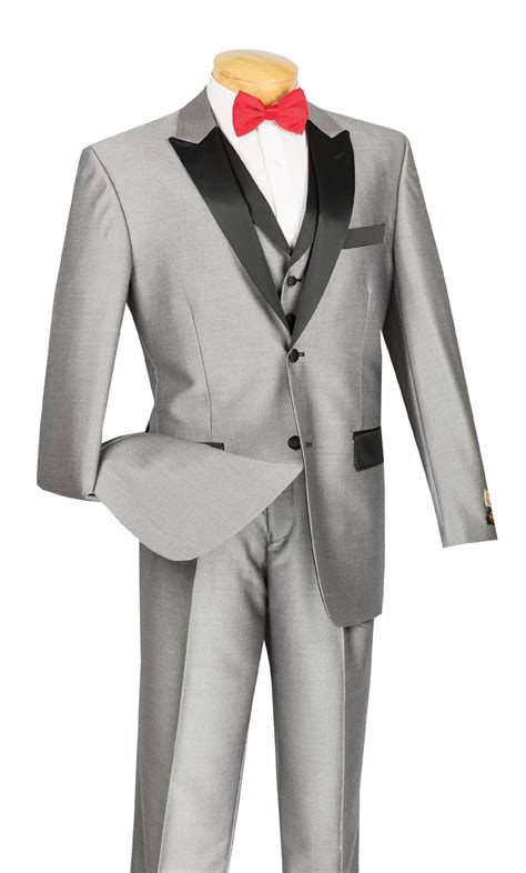 Matching Vest by S Two Button Peak Lapel Suit With Matching Vest