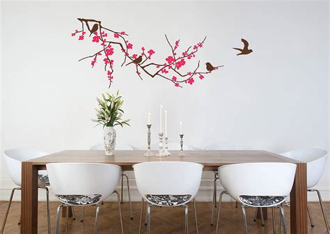 zazous wall stickers branch with flowers wall sticker by zazous