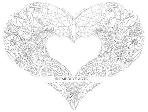 coloring pages adults hearts cynthia emerlye vermont artist and life coach butterfly