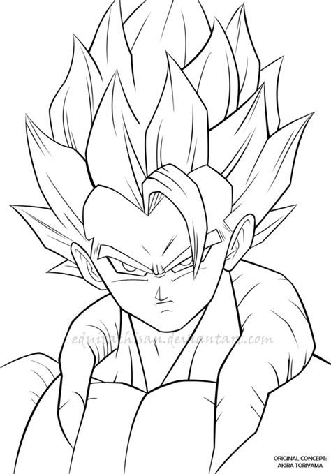 Z Drawings by Gogeta Lineart By Eduitachisan On Deviantart