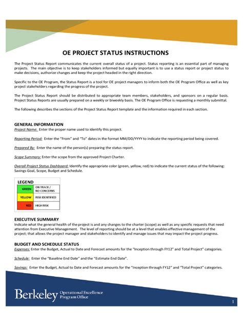Project Status Report Template Excel Free Download Project Status Report Template 3 Free Status Page Template