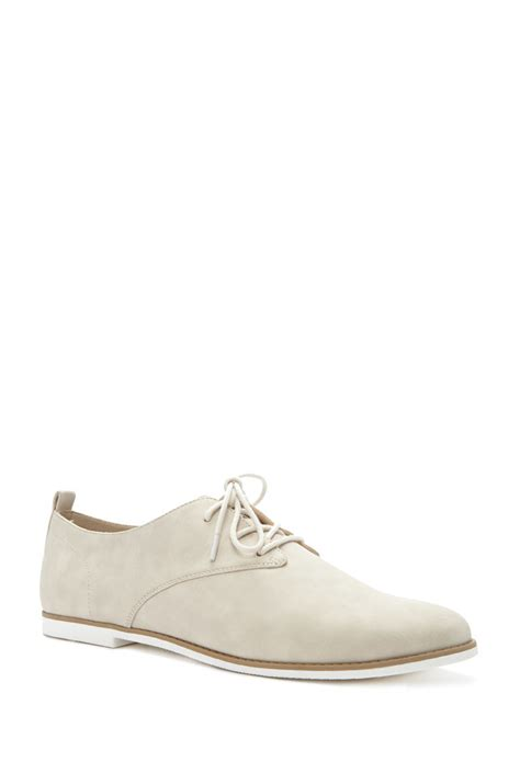 oxford shoes forever 21 forever 21 faux leather oxfords in for lyst
