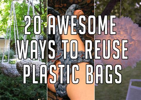 20 plastic bag diy projects to recycle and reuse them
