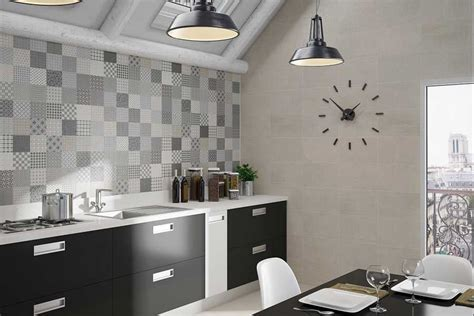 Industrial Kitchen Design by Fliesen In Der K 252 Che Mit Moderne Patchwork Muster