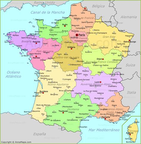 imagenes satelitales de francia mapa de francia plano francia annamapa com