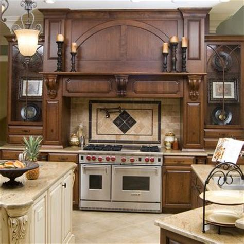 Kitchen Design Cabinets kitchen stove surrounds with a slanted cabinet hood 328