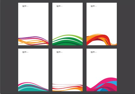 free download stationary layout design vector letterhead with line design vector download free vector