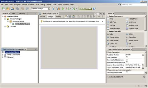 eclipse swing gui builder java frameworks rad interface gr 225 ficas desktop