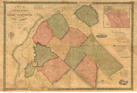 nj counties map new jersey county maps