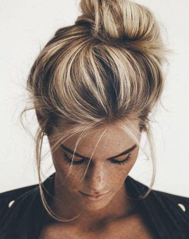chigon blonde highlights these are the most popular 5 minute hairstyles on