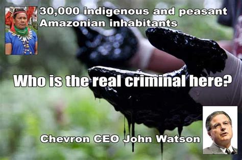 Record Criminal Ecuador Chevron In Ecuador Smooth Criminal Chevron Sues Rainforest Communities It Contaminated