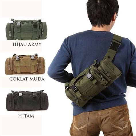 Tas Selempang Tas Selempang Slempang Army Tactical Pria Cowok 3 Way jual slingbag army tas selempang tactical army tas outdoor shoulder bag di lapak andre trendy