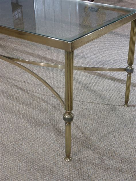 antique glass coffee table brass coffee table antiques