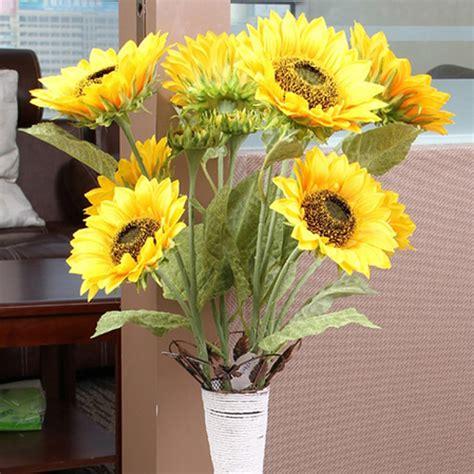 sunflowers decorations home 1 bunch 3 heads artificial sunflower silk flower home