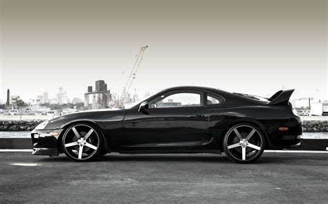 cars toyota black toyota supra black car wallpaper 1920x1200 17982