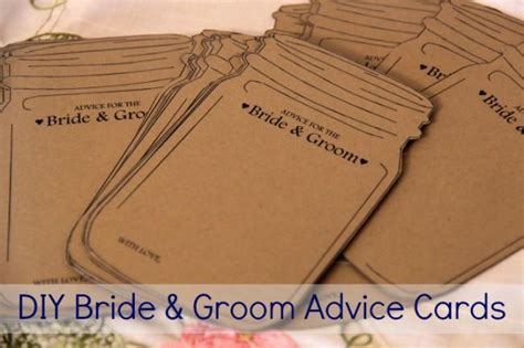 advice for and groom cards template free printable advice cards for and groom just b cause