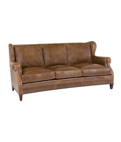 wingback leather sofa with nailhead trim