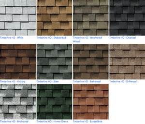 timberline shingles color chart image gallery timberline shingles
