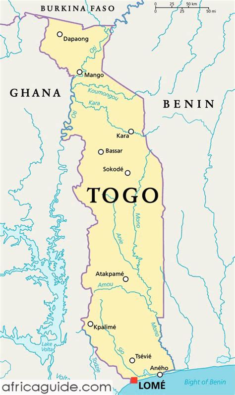 togo on a map togo guide