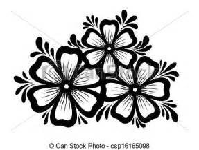 eps vectors of beautiful floral element black and white