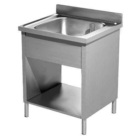lavello industriale lavello inox industriale una vasca ripiano su fianchi