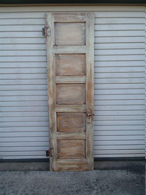tall rustic  panel pocket door pantry door rustic door