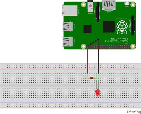 raspberry pi led blinking with python program