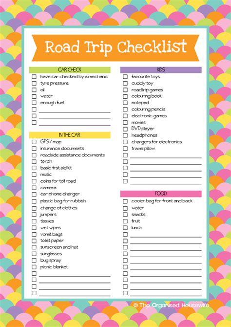 printable holiday travel checklist road trip checklist and aussie road trip games book road