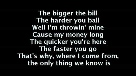 wiz khalifa work play lyrics on screen