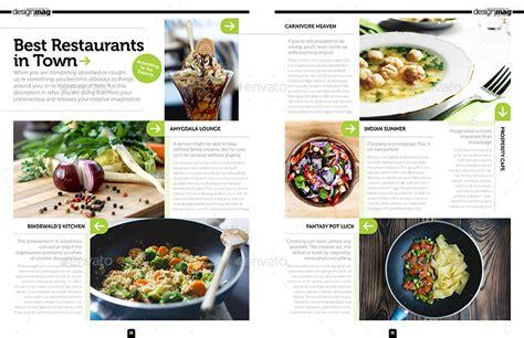 restaurant magazine layout magazine template bundle indesign layout v3 by