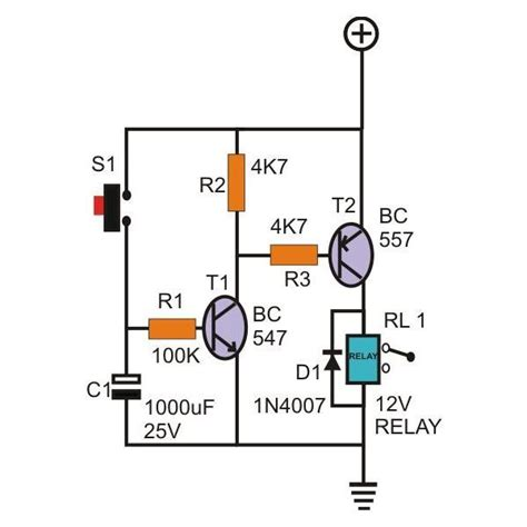 simple transistor relay driver simple timer circuit diagram circuit and schematics diagram