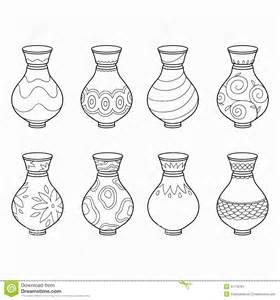 livre de coloriage vases illustration de vecteur image
