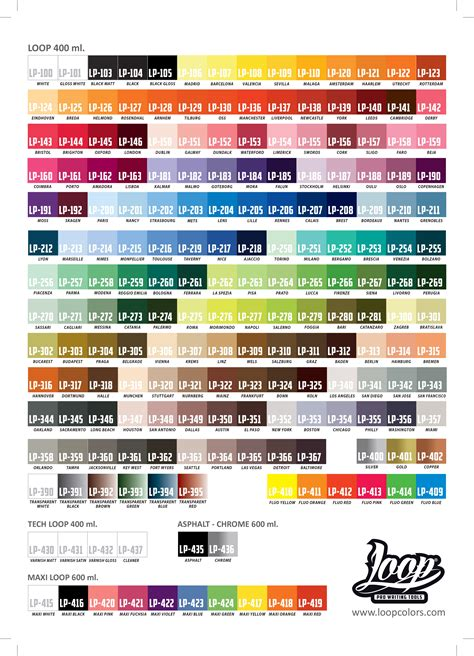 spray paint color charts graffiti