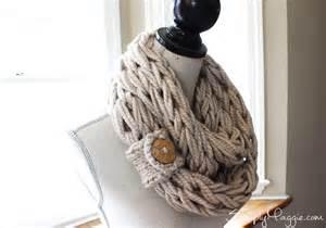 Diy Arm Knitting Infinity Scarf Diy Button Cuff For Infinity Scarf Simplymaggie