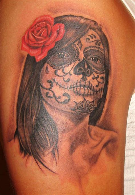 dead girl tattoo designs day of the dead design