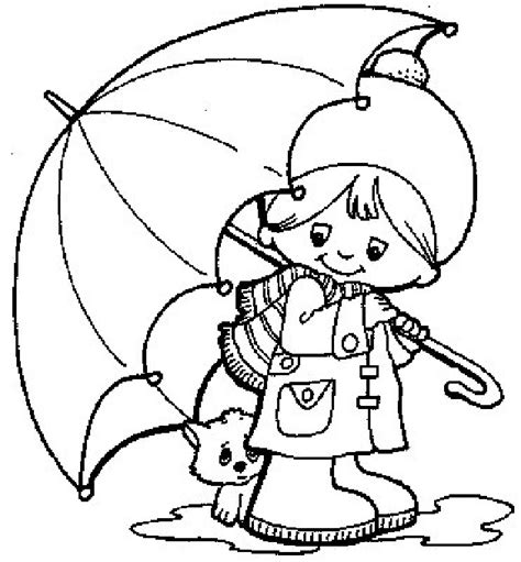 coloring page duck with umbrella free coloring pages of drawing rainy day