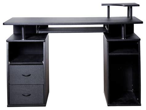 Homcom Small Home Office Computer Desk Black Aosom Homcom Home Office Computer Desk W Elevated