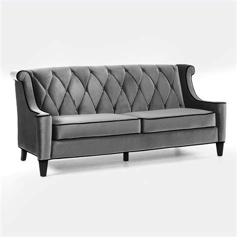 gray velvet loveseat armen living barrister velvet gray sofa ebay