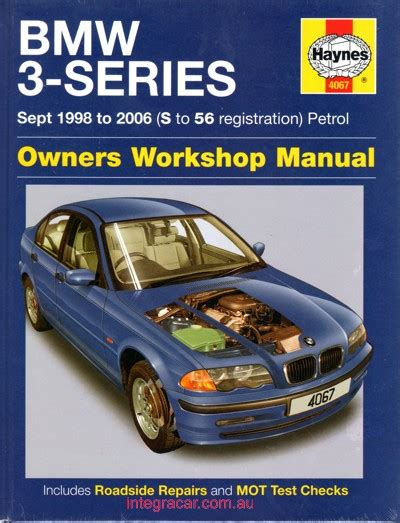 bmw 3 series e46 1998 2006 haynes service repair manual uk workshop car manuals repair books