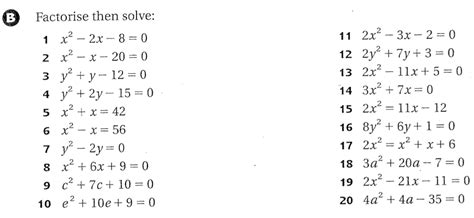 Solve By Factoring Worksheet by Math For Math Expansion Factorisation Of Quadratic