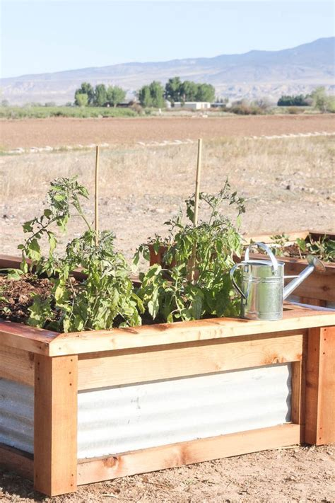 corrugated metal raised garden beds how to build raised garden beds with corrugated metal ehow