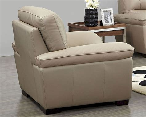 beige leather chair modern leather chair in beige color esf8052c
