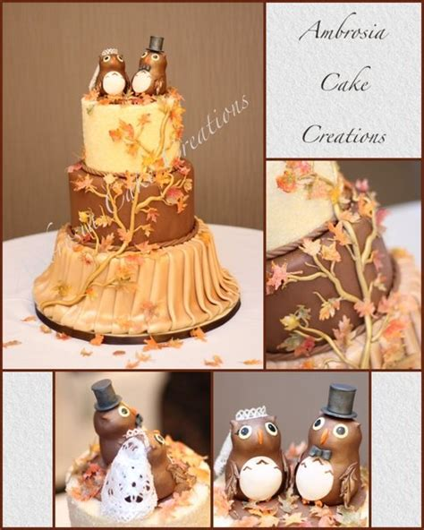 Fall theme wedding cake   Ambrosia Cake Creations
