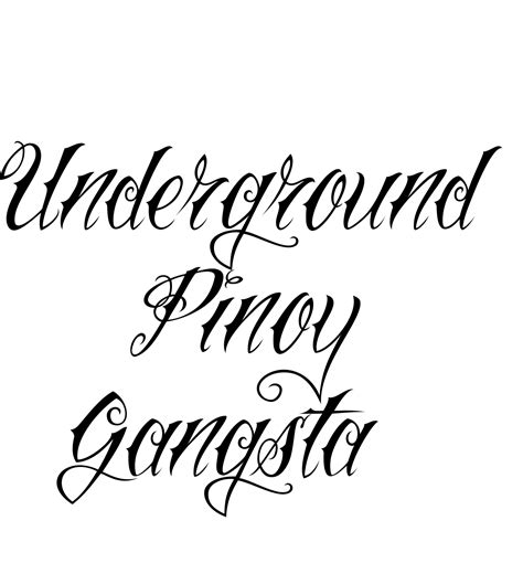 cool underground pinoy gangsta tattoo sample for boys