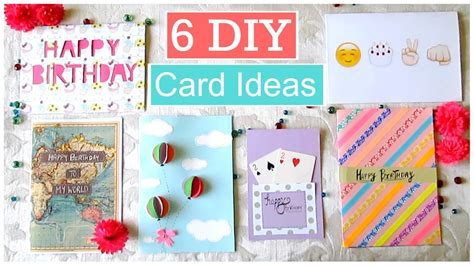 card diy ideas diy 6 easy greeting card ideas doovi